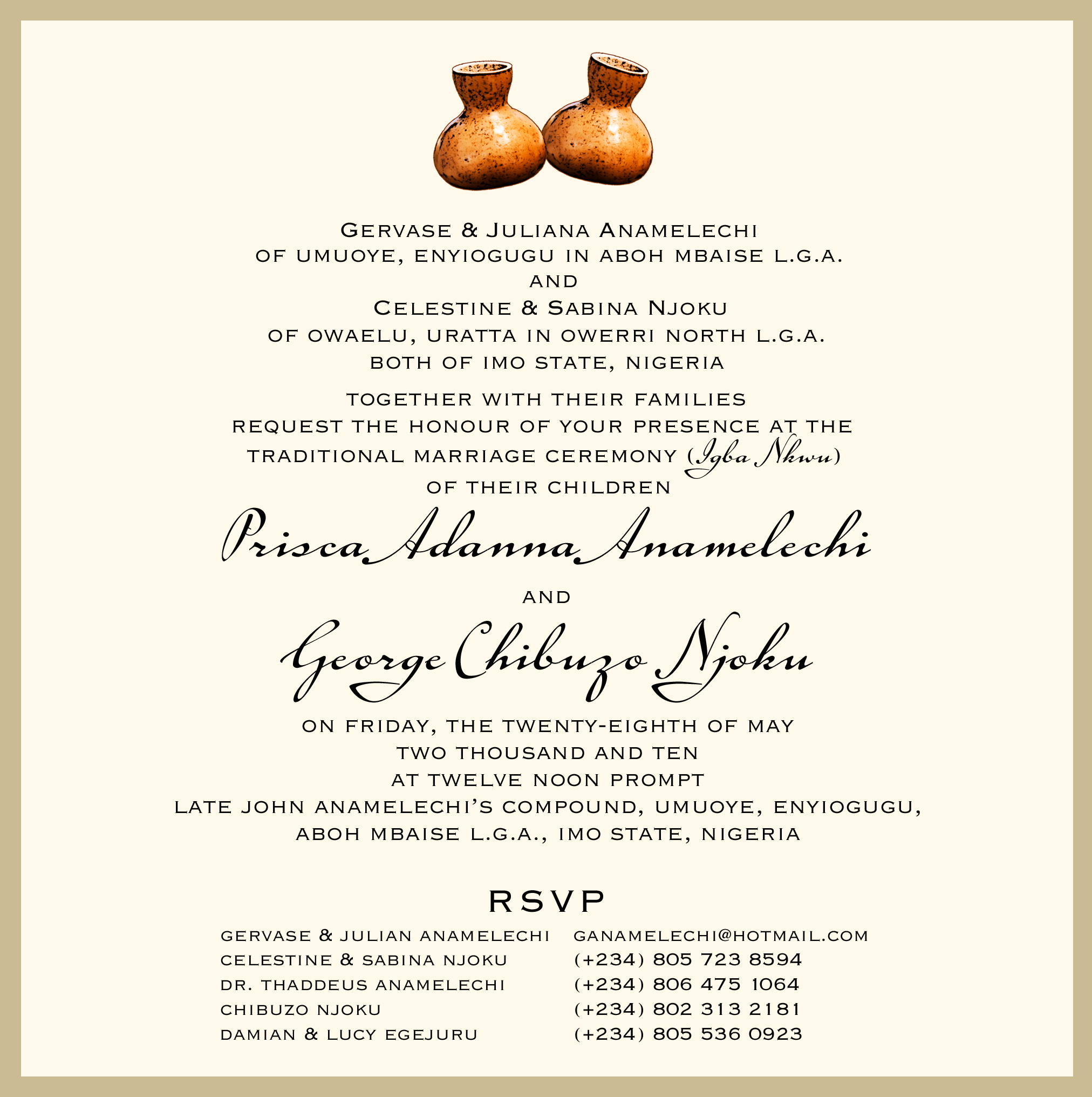 Igbo Traditional Wedding Invitation Cards: Thing Two Dr Cake Ideas And Designs